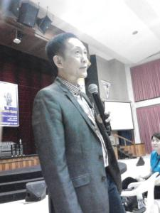 The resource person of the Practical Parenting Seminar held at Davao Christian High School -- Mr. Francis J. Kong